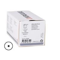 KRUUSE PD-X suture USP 4-0, 70 cm, needle: 24 mm, round bodied, taper-point, ½ circle. 18/pk