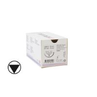 KRUUSE Sacryl suture, USP 0, 70 cm (undyed), 40 mm, ½C, RB, tapercut, 18/pk
