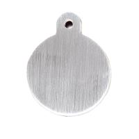 PetScribe tag, Circle large, Brushed Chrome 25stk