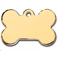 PetScribe tag, Bone large, Gold, 5 stk.