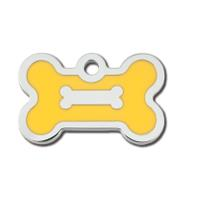 PetScribe tag, Bone small, Epoxy Yellow, 5 stk