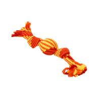 BUSTER Colour Squeak Rope w/Vinyl Ball, red/orange/yellow, large 40 cm