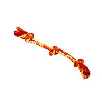 BUSTER Colour Dental Rope 3-Knot, red/orange/yellow, small, 38 cm