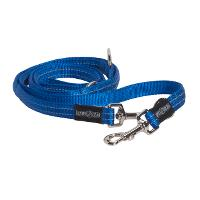 BUSTER 7-way lead, reflective, 25x2000 mm, blue