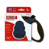 KONG Terrain Retractable Lead, medium, blå