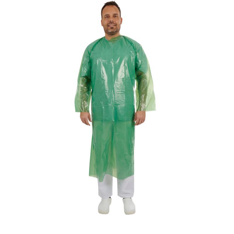 KRUTEX disposable non-sterile gown, green, 25/pk