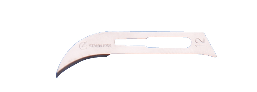 Scalpel blade no 12 stainlesssteel, sterile, 100 pcs