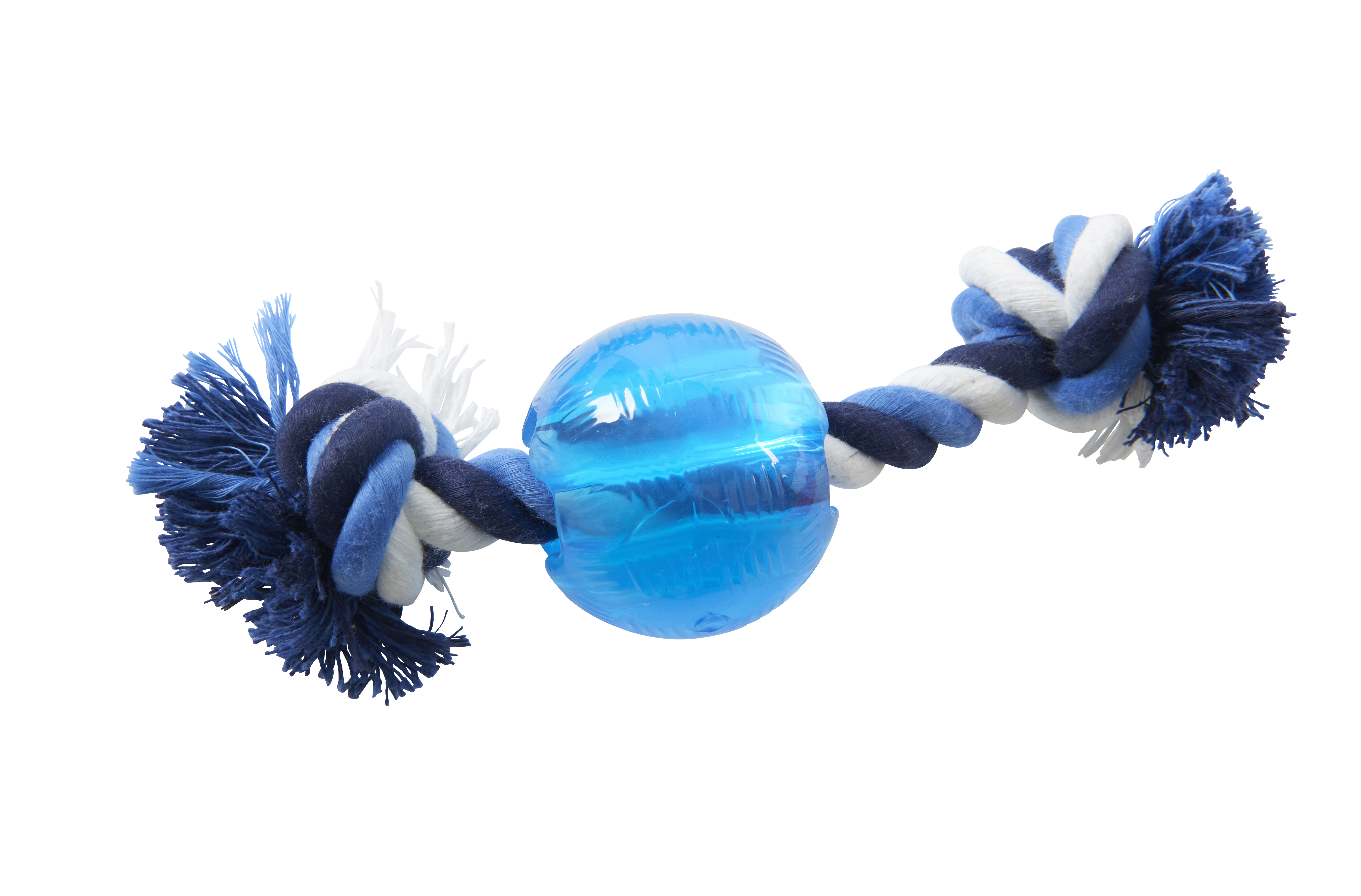 BUSTER Strong Ball w/rope, Ice Blue, x-small