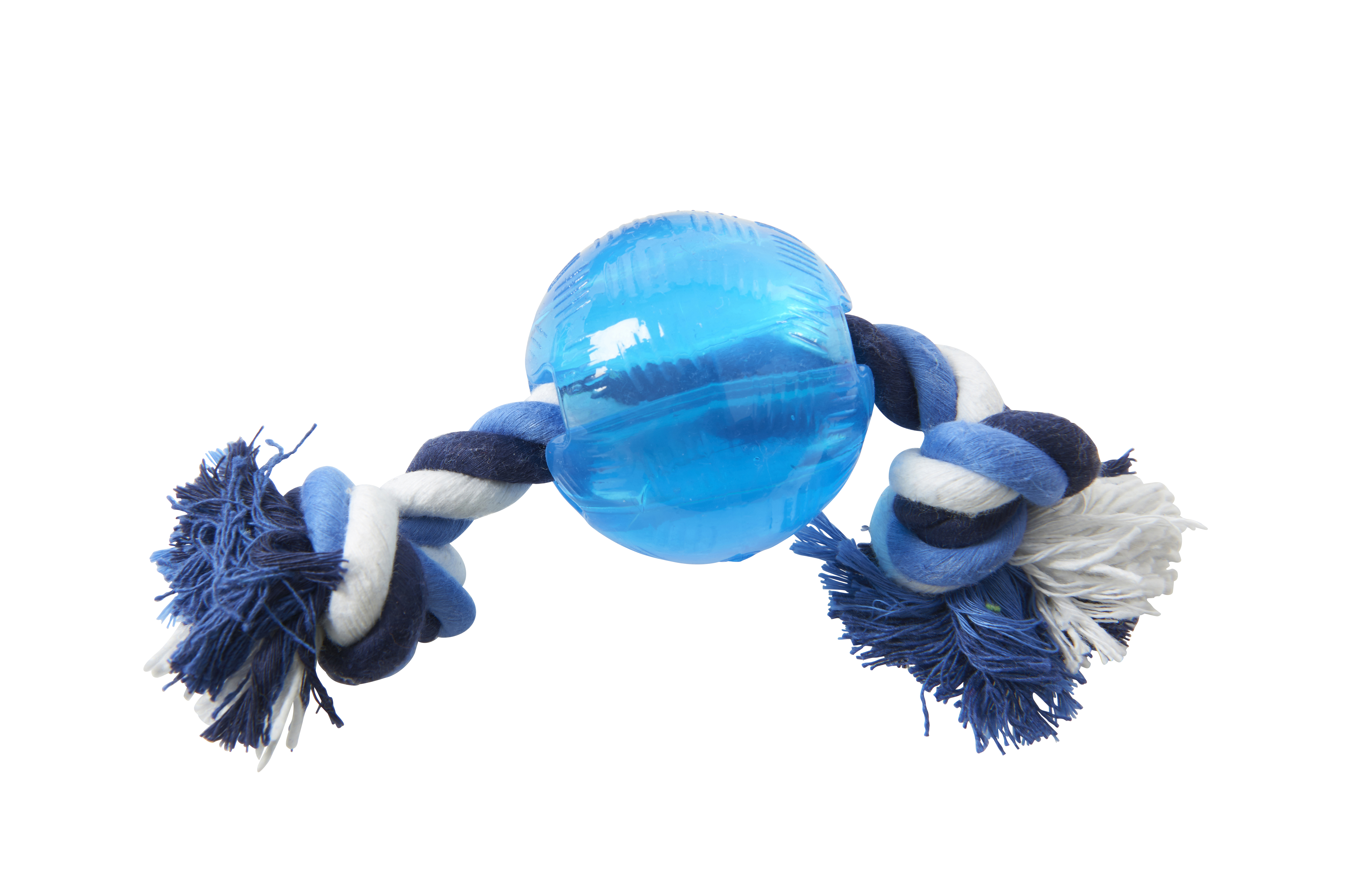 BUSTER Strong Ball w/rope, Ice blue, small