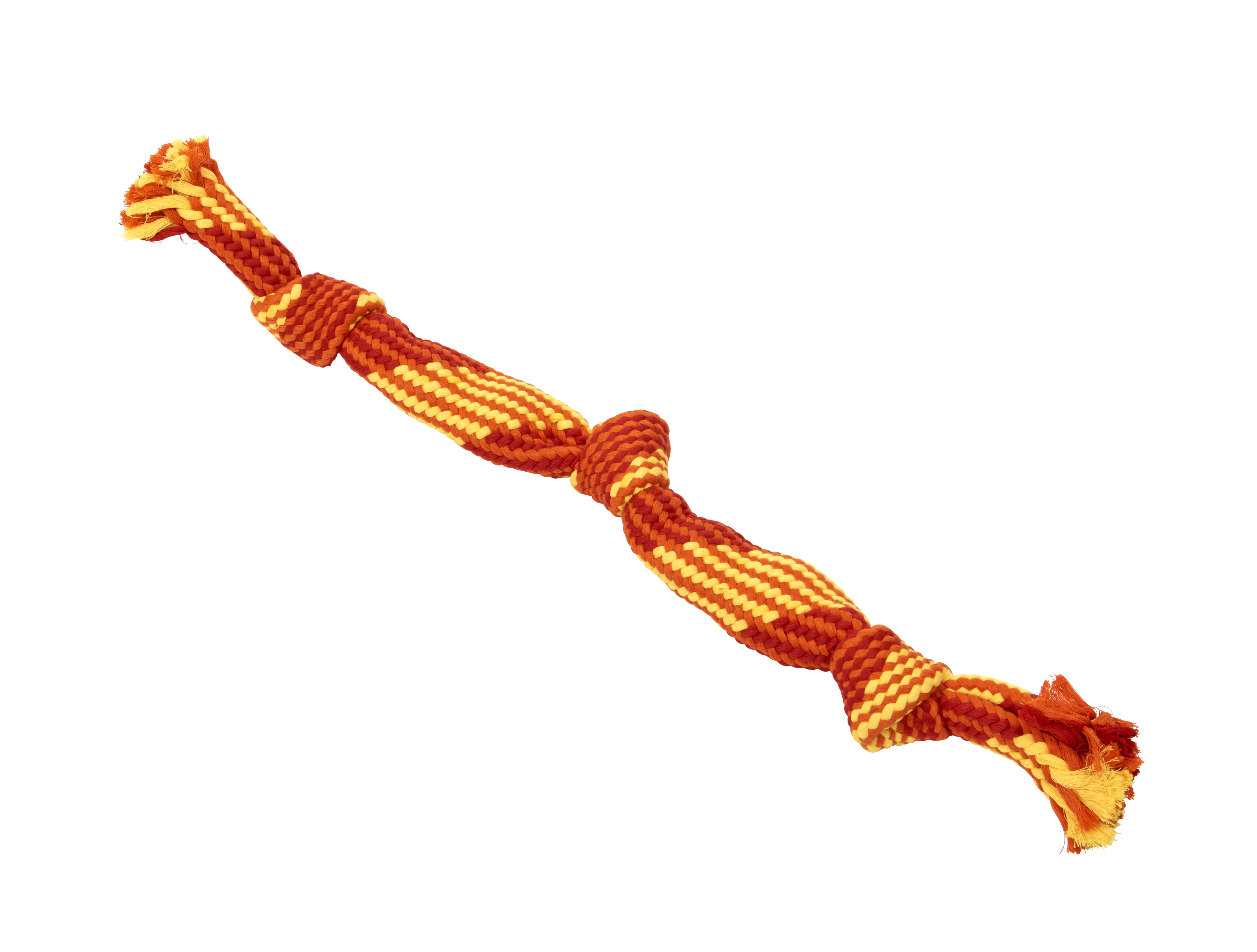 BUSTER Colour Squeak Rope, red/orange/yellow, large, 58 cm