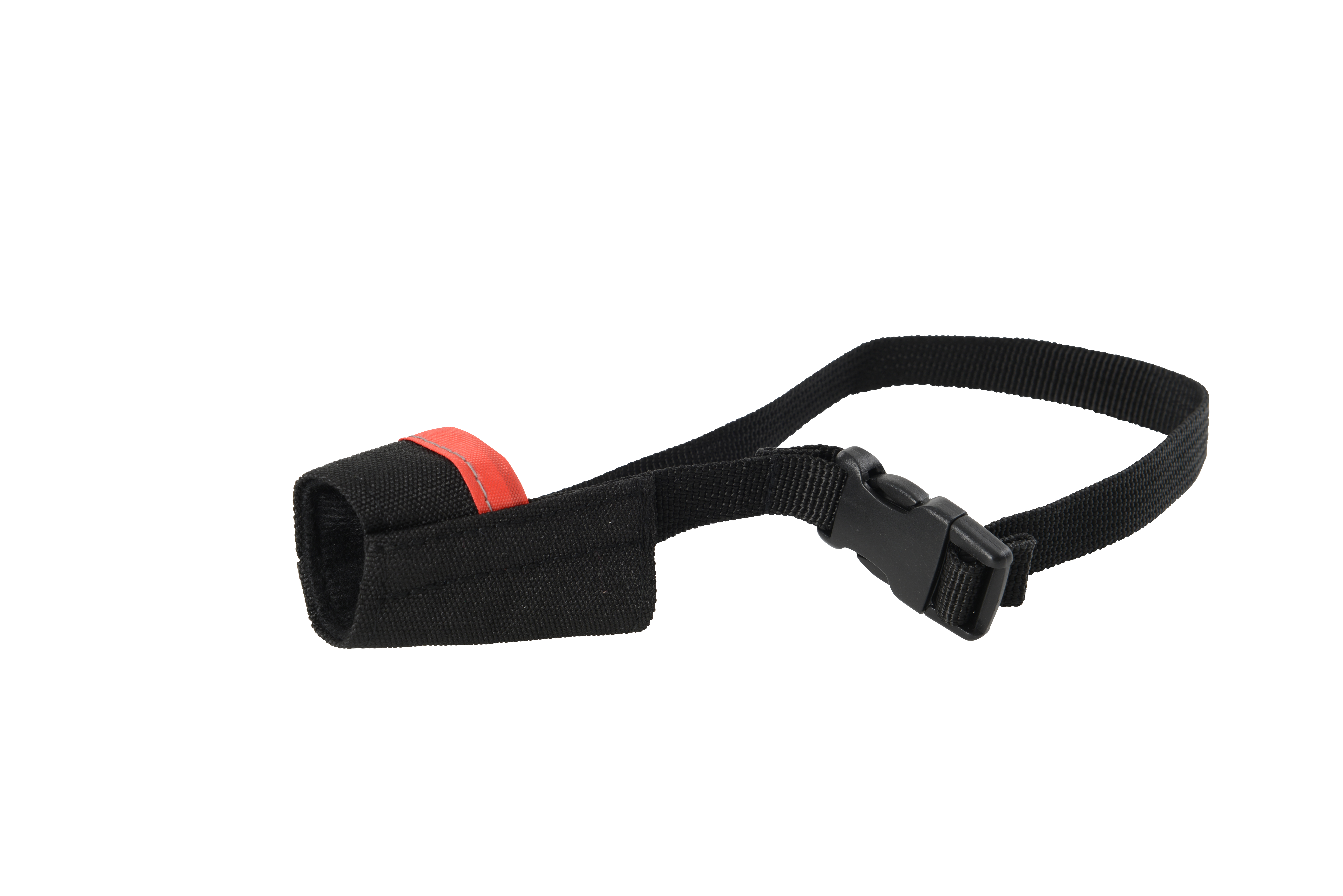 BUSTER Easy-ID nylon dog muzzle, XS, Red