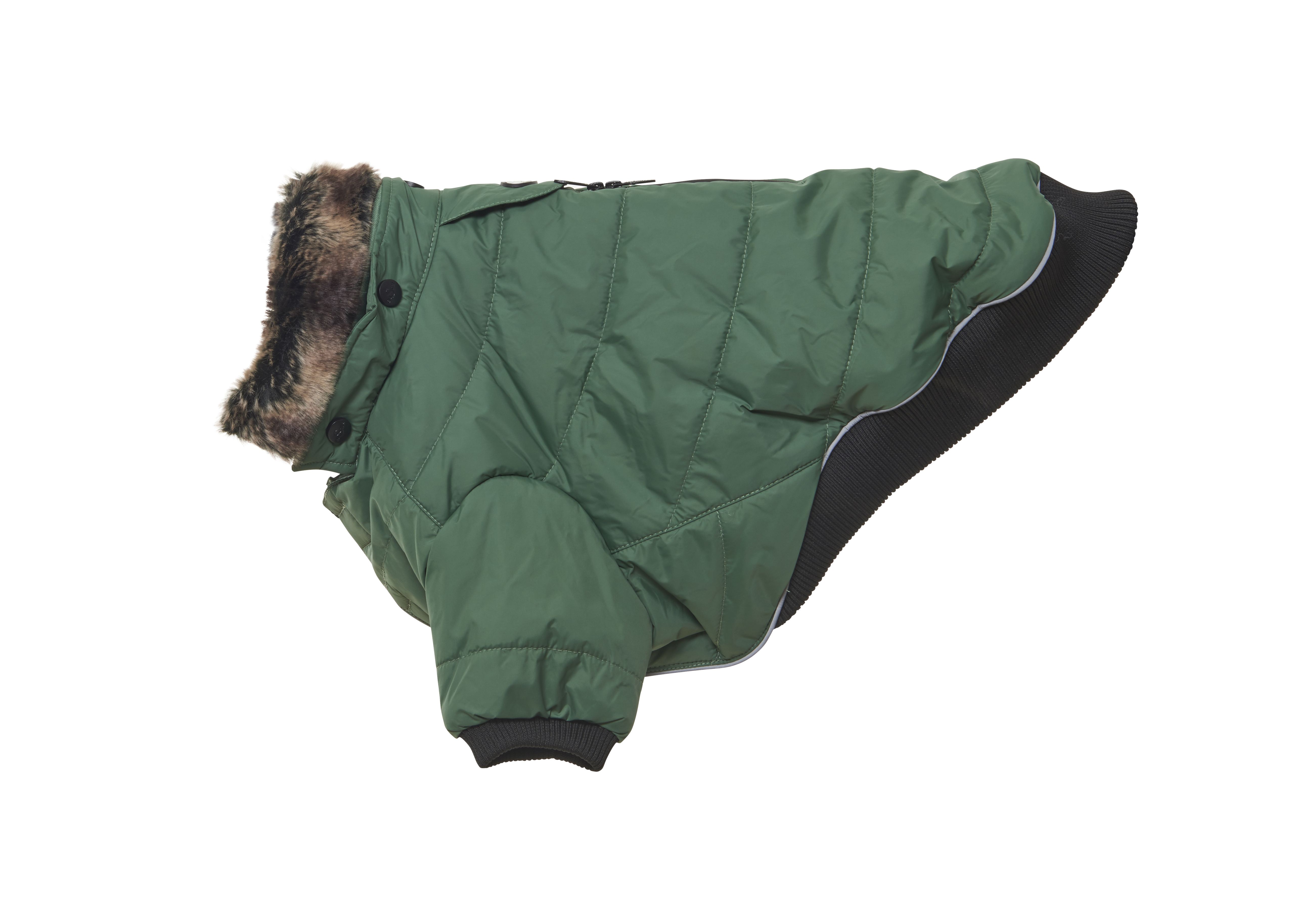 BUSTER Country winter coat, duck green, M