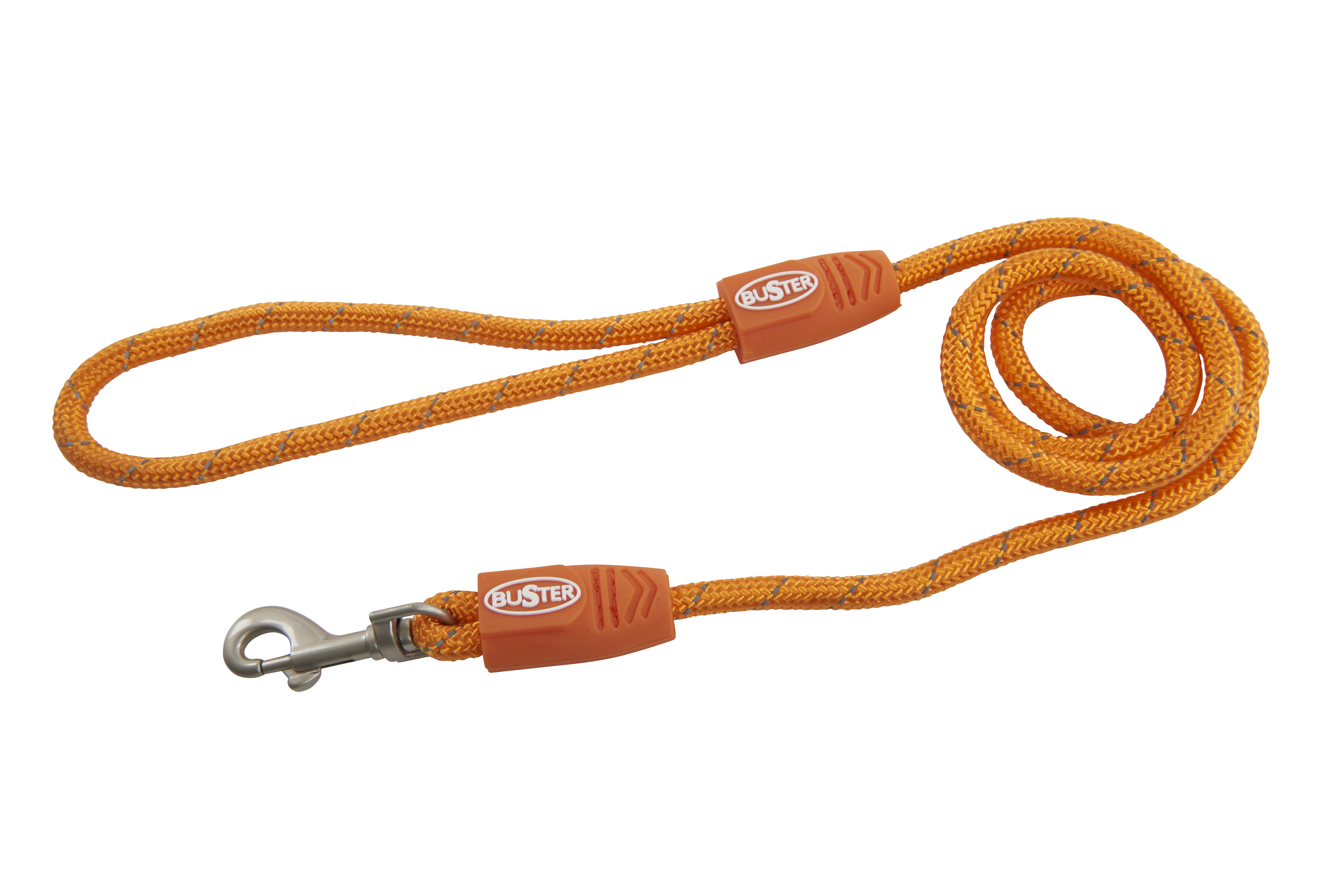 BUSTER Reflective Rope 120 cm Lead, Orange, 13mm