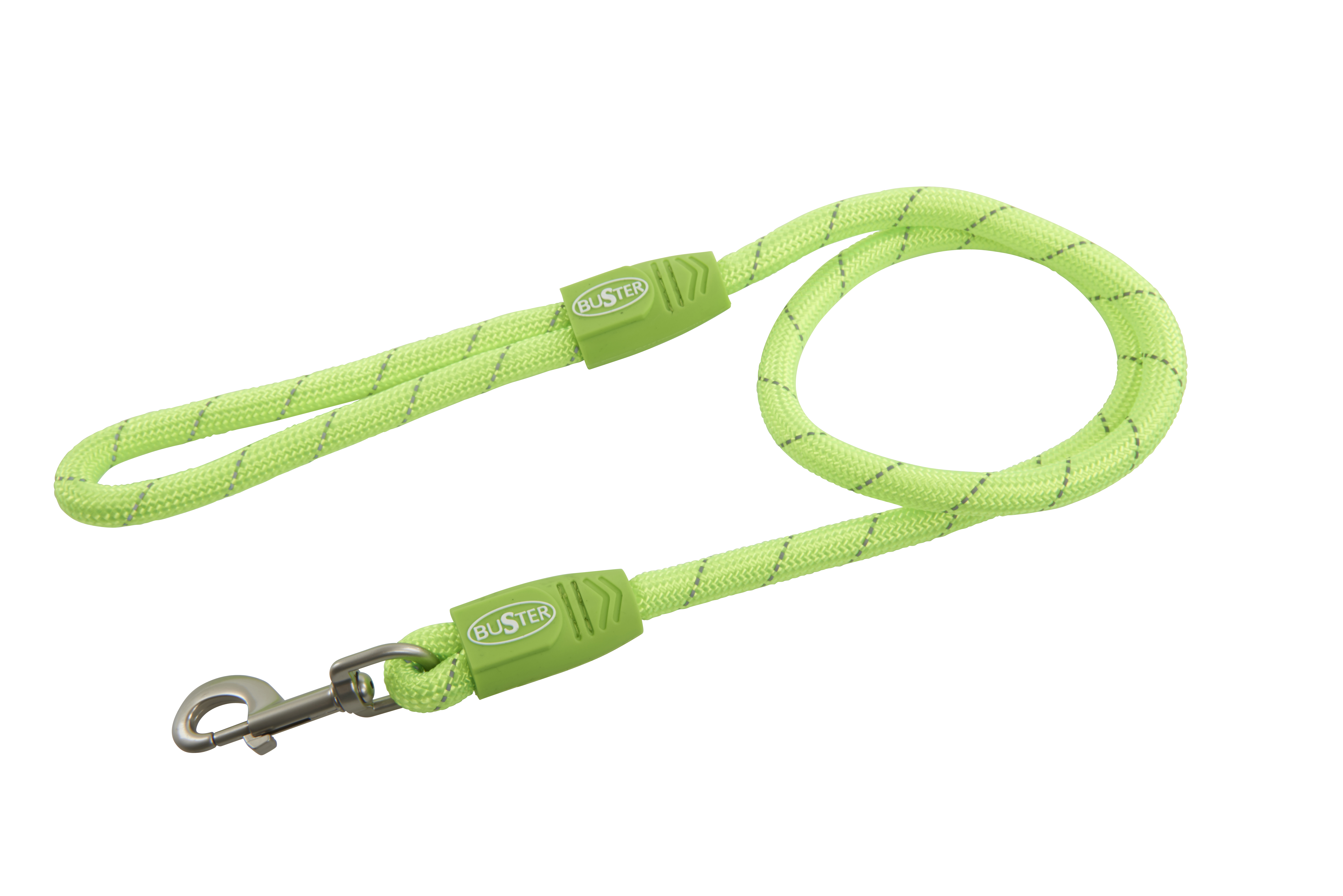 BUSTER Reflective Rope 120 cm Lead, Lime, 13mm