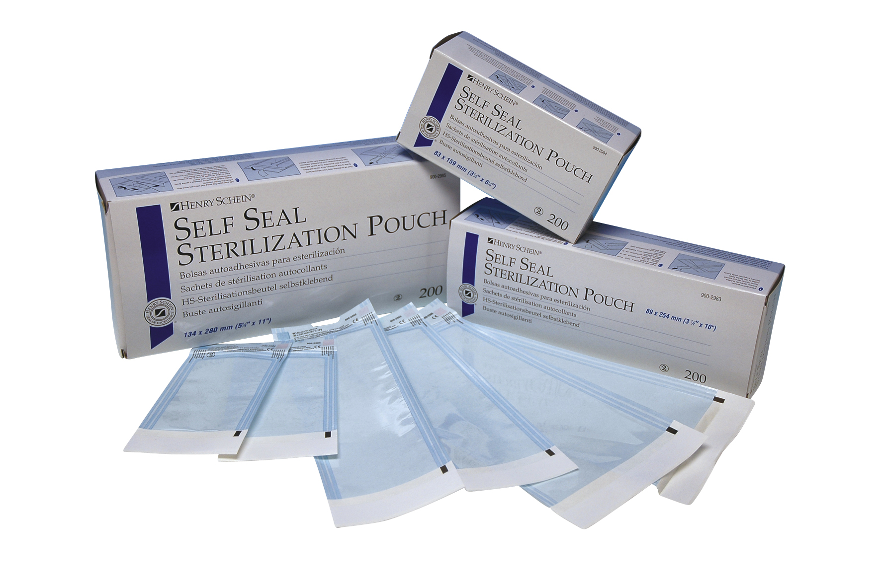 HS Autoklave Self-seal pouch, 254 x 381 mm, 200 stk