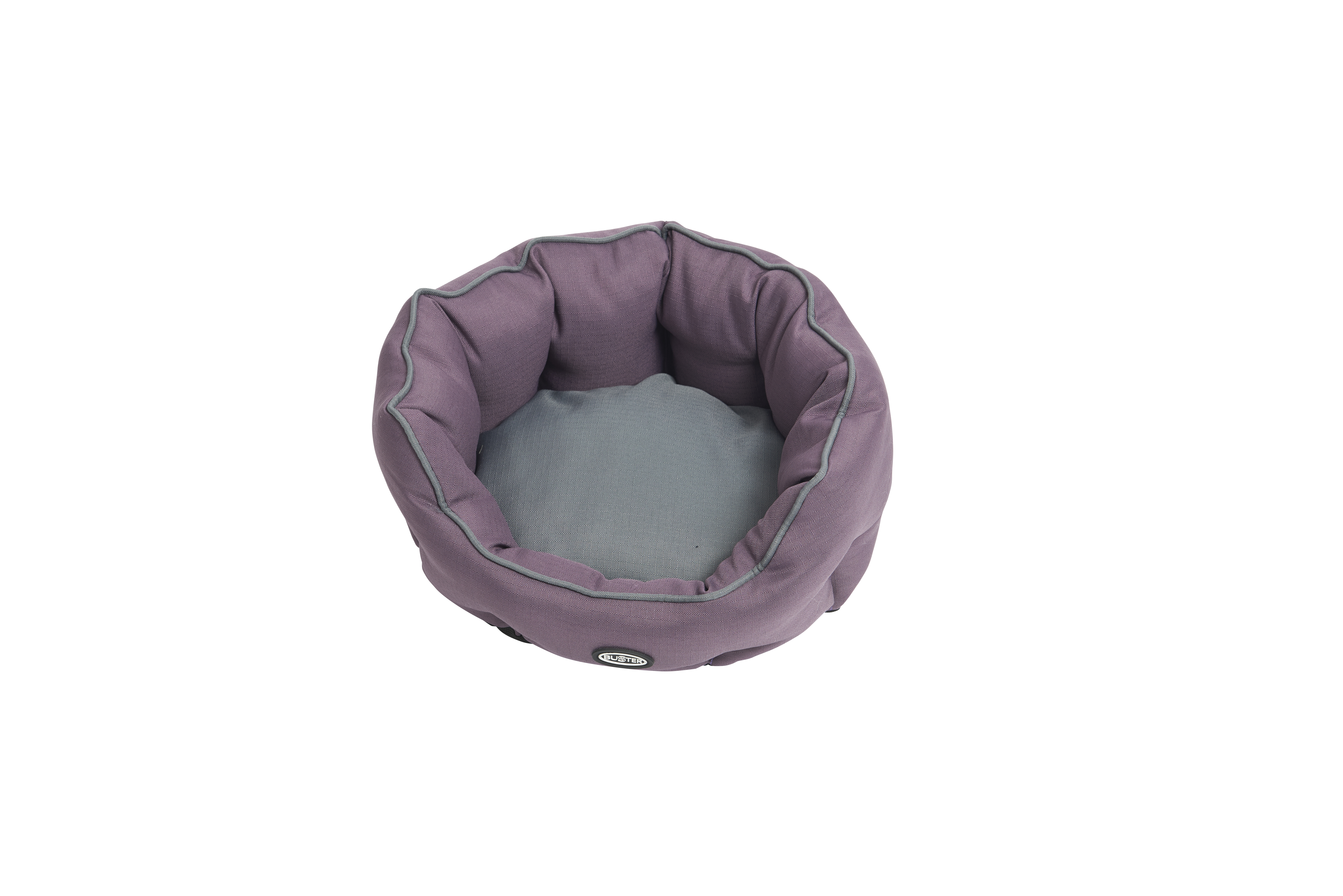 BUSTER Cocoon bed 65 cm, black plum/steel grey