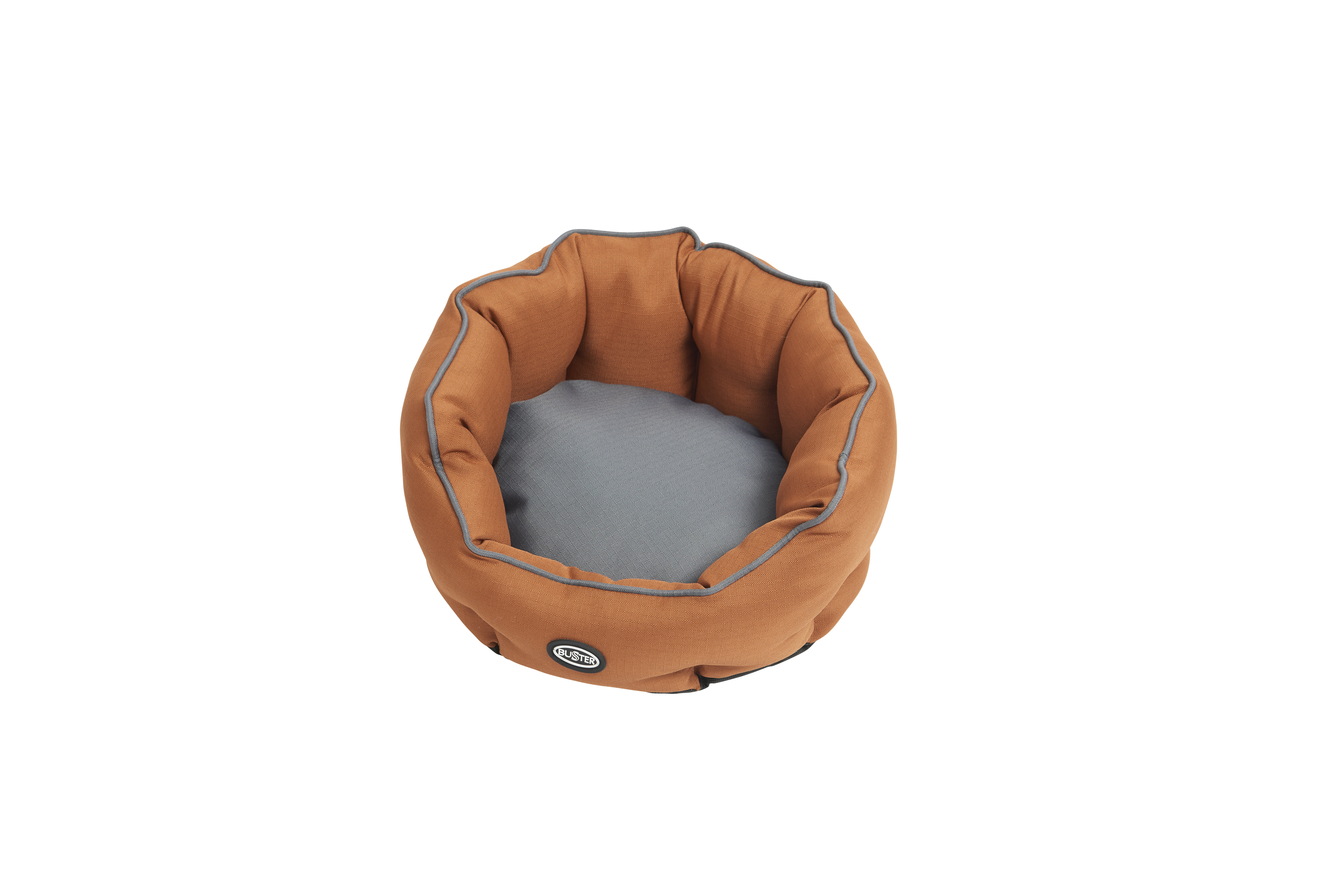 BUSTER Cocoon bed 45 cm, leather brown/steel grey